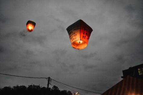 I thought flying lanterns is very romantic because it's like pouring all your heart's desire and letting the wind take it to the heavens