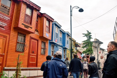 beautiful colored establishments in Sultanahmet