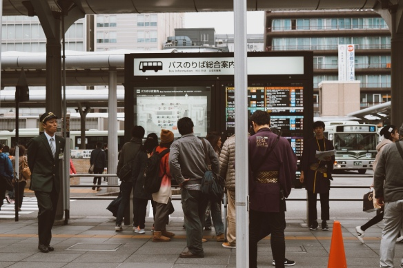 kyoto tower taxi stand