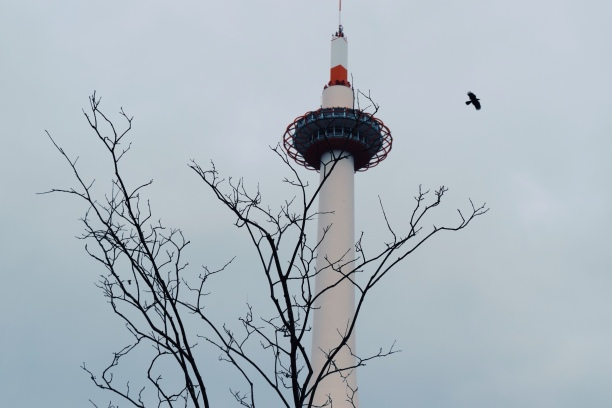 Kyoto Tower in the morning