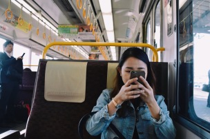 train ride to Arashiyama